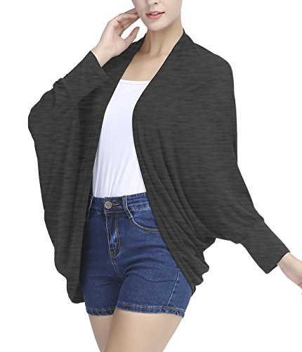 Urban CoCo Women's Loose Draped Open Front Cardigan - Womens Coco Sweater