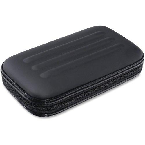 Advantus Large Soft-Sided Pencil Case - External Dimensions: 2'' Width x 8.8'' Depth x 5.3'' Height - Fabric - Black - Pen/Pencil, Crayon, Scissors - 1
