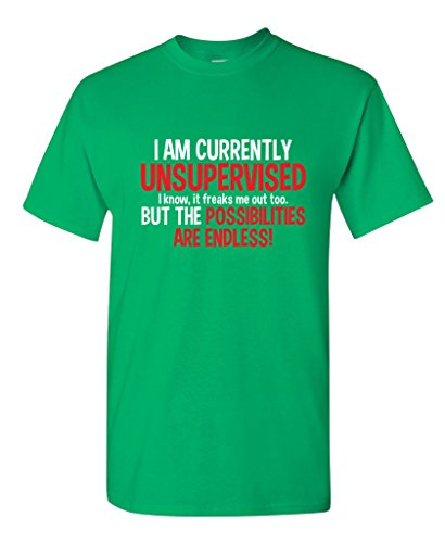 Irish Grandpa T-shirts (I Am Currently Unsupervised Adult Humor Novelty Graphic Sarcasm Funny T Shirt 3XL Irish)