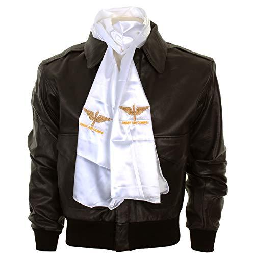 Epic Militaria Replica WW2 US Army Air Corps Logo Pilots Scarf White