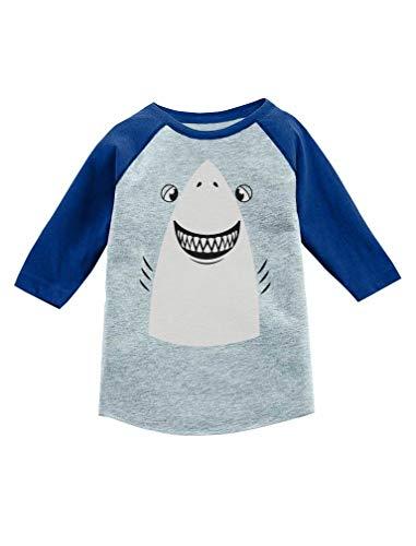 Great White Shark Halloween Costume 3/4 Sleeve Baseball