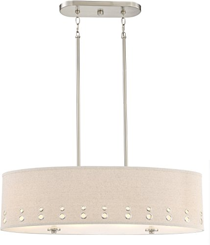 Oval Drum Shade Pendant Light