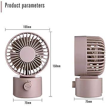 Cooler Super Mute Silent Mini Desk Fan Personal USB Desktop Fan Moving Head Desktop Fan Lower Noise-Small Motor Portable Air Cooling Black