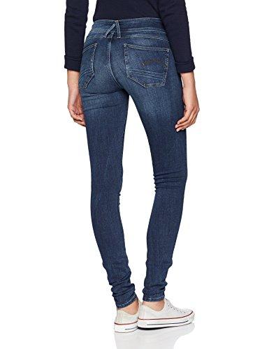 Aged G Skinny WMN STAR Femme Bleu Lynn Mid Super 89 Jeans RAW D Dk 67xg6