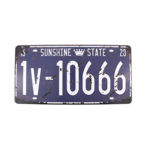 6x12 Inches Vintage Feel Rustic Home,bathroom and Bar Wall Decor Car Vehicle License Plate Souvenir Metal Tin Sign Plaque (Sunshine State 1v-1066)