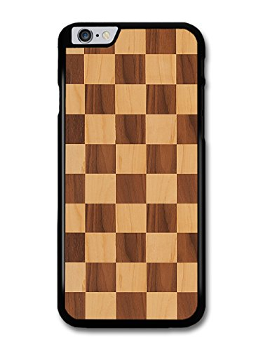 Wooden Effect Chequerboard Pattern in Different Stains case for iPhone 6 Plus 6S Plus