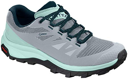 Salomon Women's Outline GTX W Hiking Shoe, Pearl Blue/ICY Morn/Reflecting Pond
