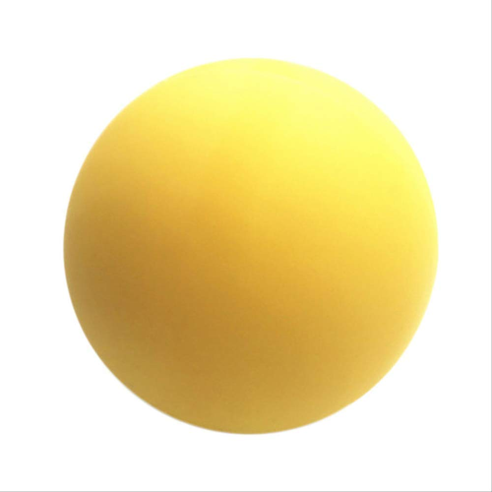 YJQQ Yoga Ball 1 Piece Silicone Yoga Massage Ball Pain Stress Relief Trigger Point Yoga Lacrosse Balls Yellow