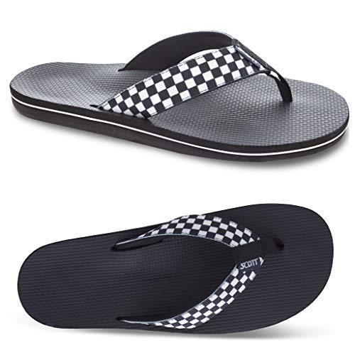Men's Scott Elekea Checkered Sandals | Woven Nylon Straps | Custom Grooved Outsole Prevents Slipping | Size 11