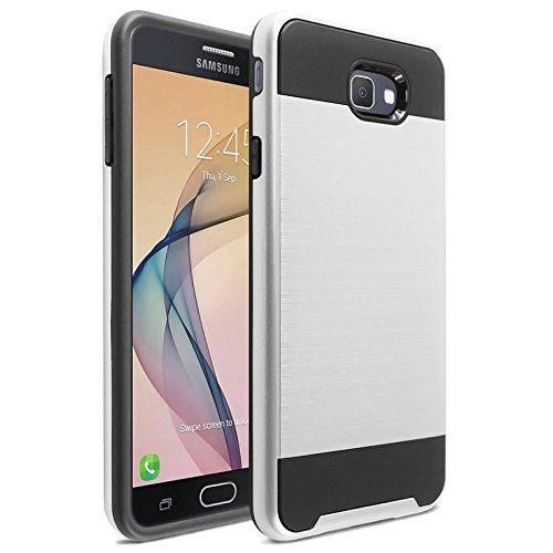 Slim Shockproof Case for Samsung Galaxy On7 (Silver) - 9