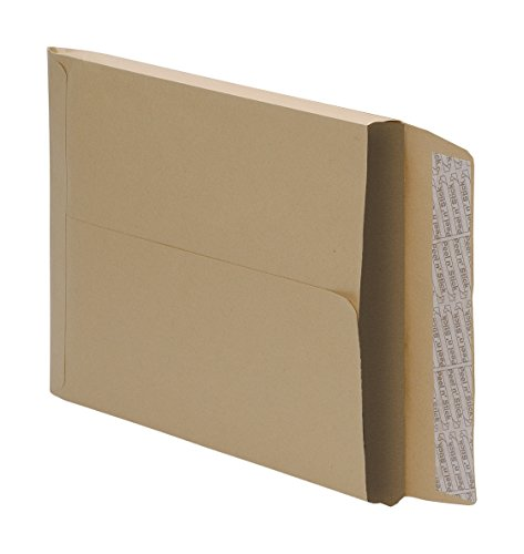 Gusset Peel - 5 Star Office Envelopes Peel and Seal Gusset 25mm 115gsm Manilla C4 [Pack 125]