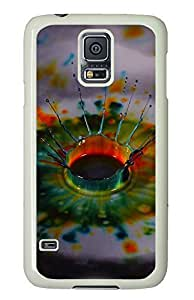 Samsung S5 case retro cover Droplets Instantly PC White Custom Samsung Galaxy S5 Case Cover