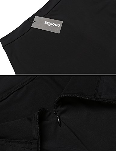 Zeagoo Women's High Waist Stretch Slim Fit Pencil Bodycon Short Mini Skirt Type3-black X-Large by Zeagoo (Image #6)