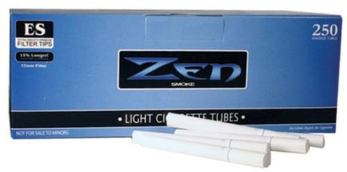Zen White Light King Size Cigarette Filter Tubes (2) Cigarette Rolling Tubes