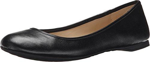 Nine West Women's Fedra Black Synthetic Flat 7.5 M (Nine Women Shoes Flat West For)