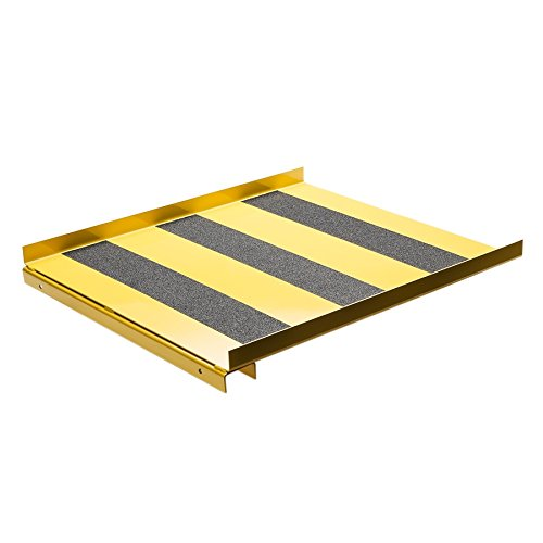 New Pig CAB776 Heavy-Duty 12-Gauge Steel Ramp, 500 lbs Load Capacity, 24'' Length x 28'' Width, For Vertical Drum Flammable Safety Cabinet