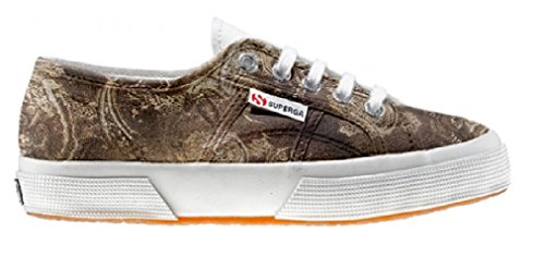Superga Customized Chaussures Coutume Gold Paisley (produit artisanal)