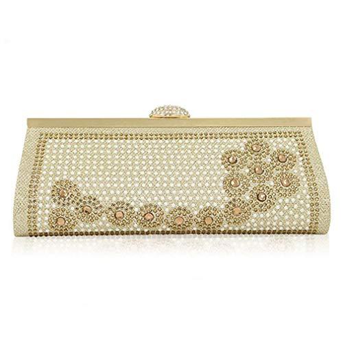 Women Crystal Handbags Rhinestone Clutch Diamond Wedding Bag Ladies Banquet Party Evening Bags Gold Bag ULKpiaoliang Shoulder 87fIt