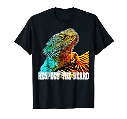Respect The Beard T shirt Funny Bearded Dragon T-shirt