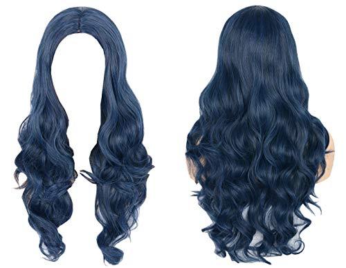 Topcosplay Womens Hair Wig Blue Curly Long Cosplay Halloween Costume ()