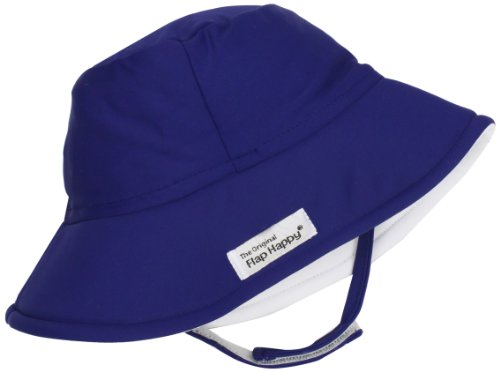 Happy Flap Clothes - Flap Happy Unisex Baby UPF 50+ Fun In The Sun Hat with Chin Strap, Nautical, Large