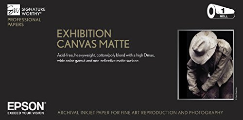 - Epson Exhibition Canvas Matte, 24 inch x 40 ft. Roll - S045257