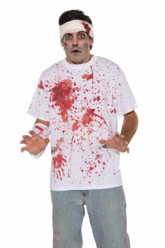 Forum Novelties Men's Bloody Costume Shirt, Multi, One Size