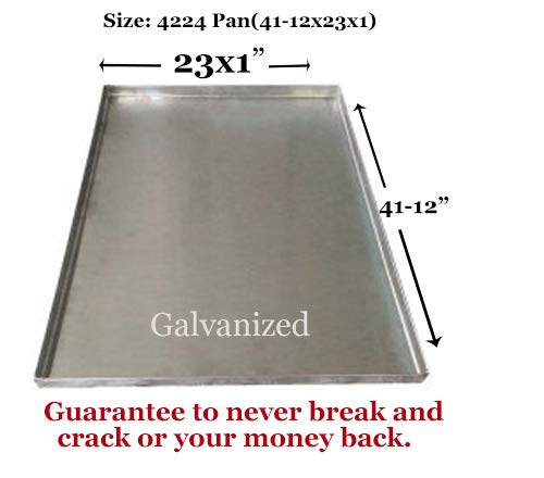 - Pinnacle Systems Replacement Tray for Dog Crate - Chew-Proof and Crack-Proof Metal Pan for Dog Crates (Stainless Steel, 47