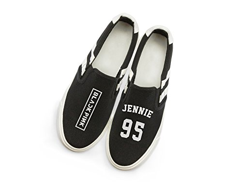 Hiphop Canvas Shoes Fan with Fanstown Memeber Fanshion Style Kpop Support lomo Sneakers Jennie Blackpink Card AFApq0