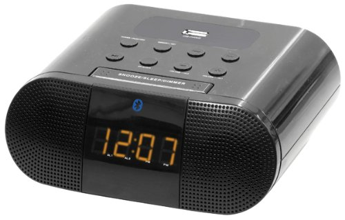 Curtis Sylvania Bluetooth Clock Radio, Dual Alarm, with U...