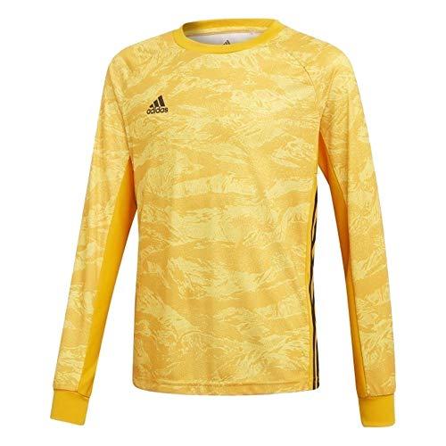 (adidas AdiPro 19 Youth Goalkeeper Jersey Long Sleeve (Medium, Collegiate Gold))