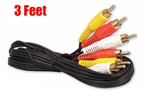 iMBAPrice® RCA M/Mx3 Audio/Video Cable Gold Plated – Audio Video RCA Cable