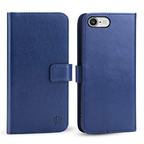 FLORAMOR Premium PU Leather Flip Wallet Case for Apple iPhone, Magnetic Closure, Card Slots and Hands-Free Design (iPhone 7 Plus / 8 Plus)