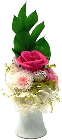 【撫子-NADESHIKO-】100% プリザーブドフラワー 仏花 お盆 彼岸 お供え ギフト 省スペースで飾る新しい プリザ仏花