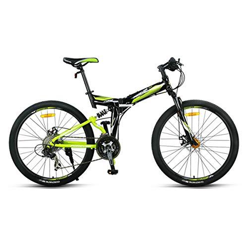 Dapang Folding Lightweight Flying 27 speeds Mountain Bikes Bicycles Shimano Alloy Stronger Frame Disc Brake,Green