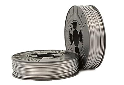 PLA 2,85mm silver ca. RAL 9006 0,75kg - 3D Filament Supplies