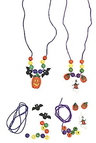 Wood Halloween necklace craft kits - 12 (Kids Halloween Spider Crafts)