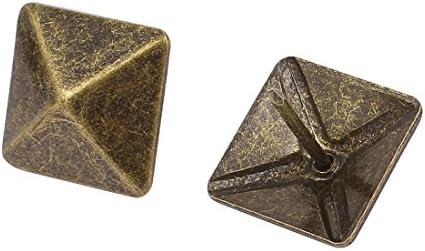 model: R9982IXII-2044SW Aexit 19mm Dia Metal Square Tapicer/ía U/ña Pulgar Pulgar Pin Pin Bronce Tono 25PCS