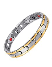 Medical energy bracelet with germanium stone to get rid of electrical charges in body and balance for unisex