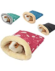 None/Brand Hamster Sleeping Bag, Winter Soft Warm Bed Plush Small Pet Nest Snuggle Sack Hideout Pouch for Hedgehog Guinea Pig Squirrel Small Animals (Random Color) (L-7.08 x 9.05)