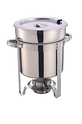 11 Qt Soup Chafer Stantion With Water Pan Contemporary Marmite, Includes Fuel Holder