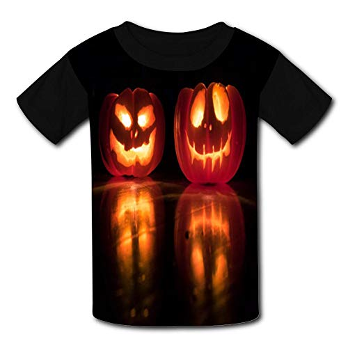 Pumpkin Lights on The Floor Child Short Sleeve Fashion T-Shirt of Boys and Girls -