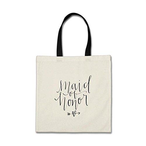 RealYou Maid Wedding Bridal Jute Budget Tote Bags