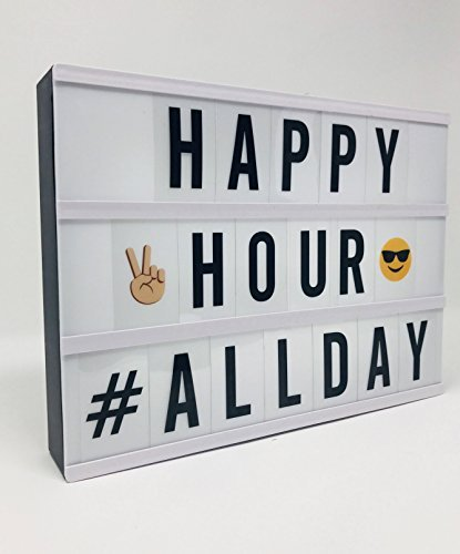 The Nifty Nook Home Trend Mini LED Electric Message Lightbox Letter Emoji DIY Cinema Sign Board (Sale For Bar Accessories)
