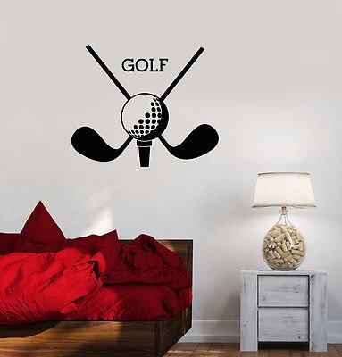 Vinyl Wall Decal Golf Club Sport Putters Ball Stickers Mural VS314