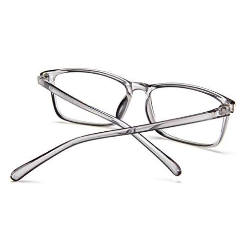 Petit Unisexe Fashion Clair Rétro Légères Optiques Cadre Complet Pc Yefree Lunettes Gris Transparent Carré fwdqI5w