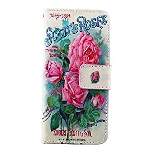 Rose Pattern PU Leather Full Body Case for iPhone 6