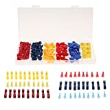 Homyl 96Pcs Nylon Quick Splice No Strip Wiring Electrical Insulated Terminals Connector Set for Connecting Cable & Wire
