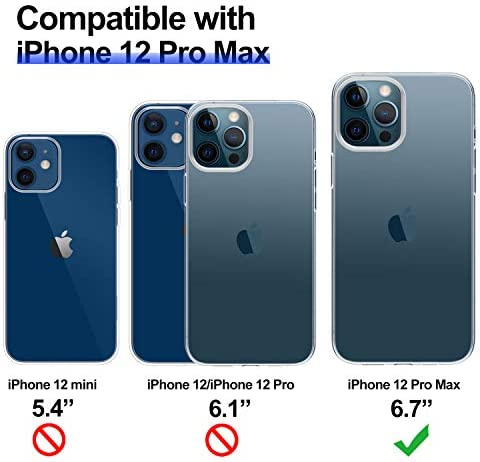 THREEBEES Compatible with iPhone 12 Pro Max Case Clear Slim Fit Thin Soft Cover with Premium Flexible Bumper Designed for iPhone 12 professional max, 6.7 inch – Crystal Clear