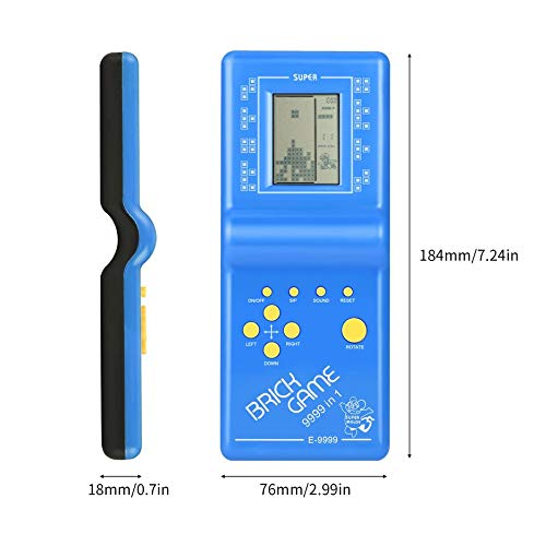 Electronic Tetris Brick Game Kids Classic Handheld Game Machine with Game Music Boys Girls LCD Educational Toys